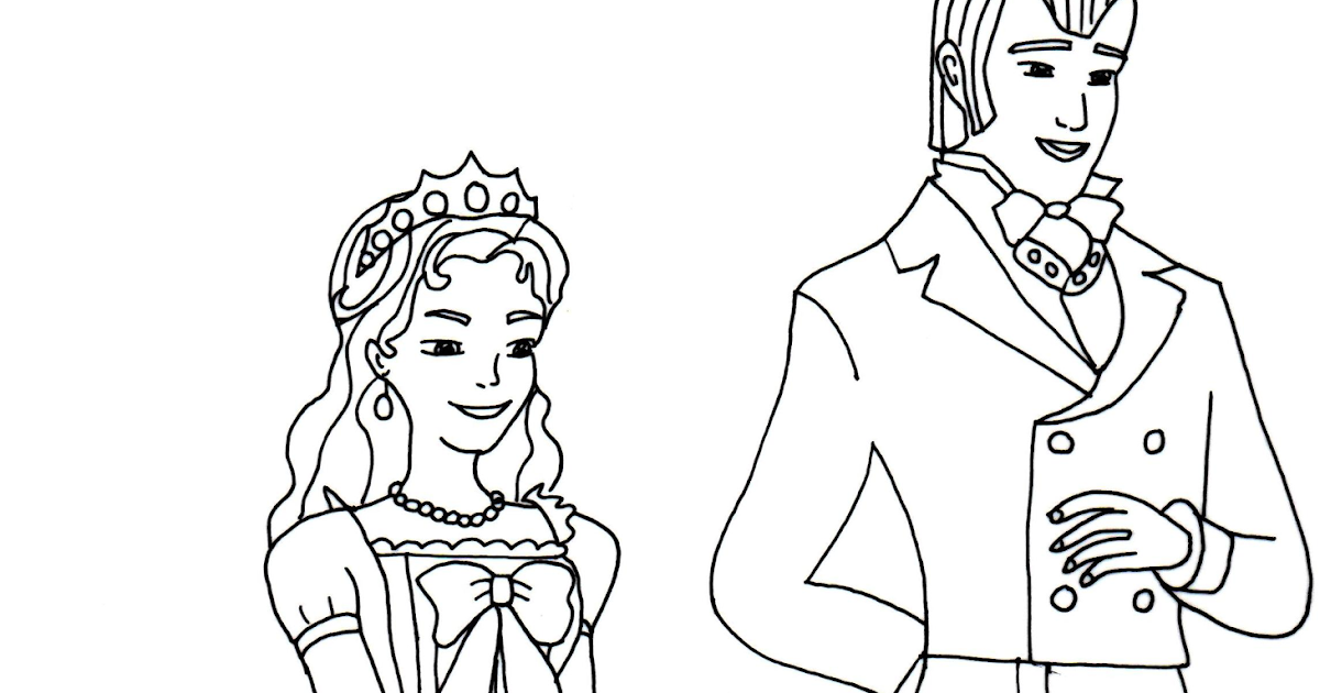 Sofia The First Coloring Pages: King and Queen Sofia the