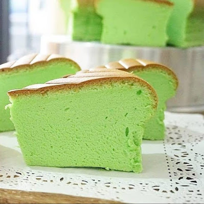 Resep Ogura Pandan Cake