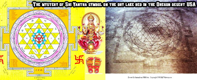The Mystery of Sri Yantra symbol on the dry lake bed in the Oregon desert USA - An Scientific Research