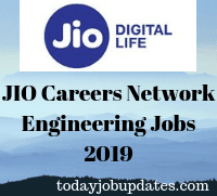 JIO Careers Network Engineering Jobs 2019
