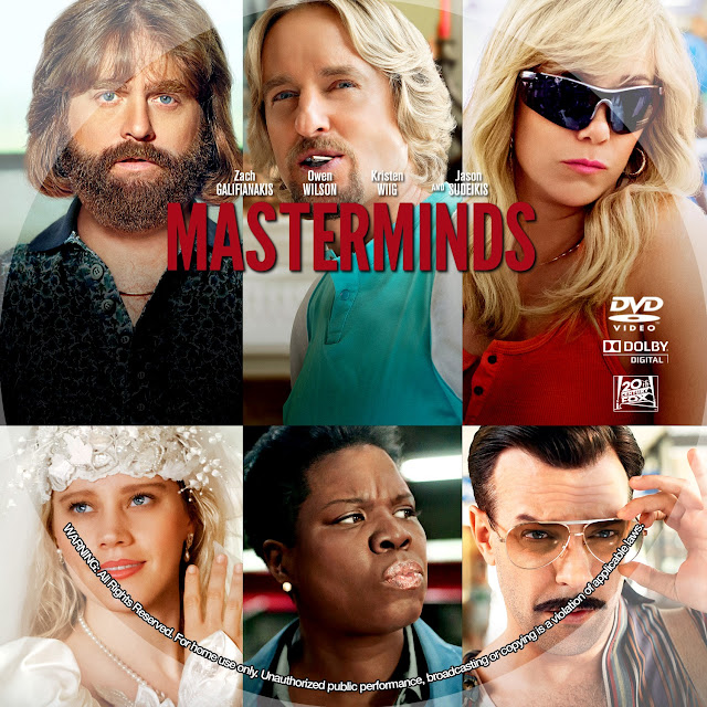 Masterminds DVD Label