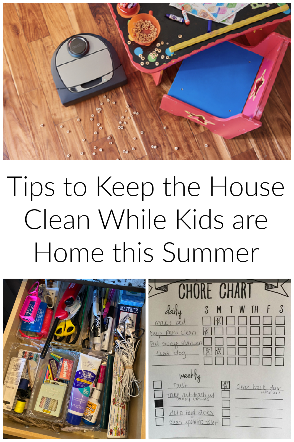 Tips to Keep the House Clean with Neato Robotics While Kids are Home this Summer