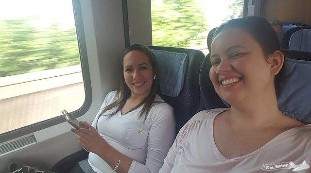Viajando no trem europeu
