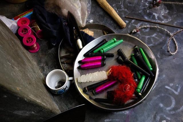 Murshidabad Silk Thread ready for weaving
