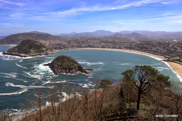 Playa de Ondarreta. La Concha. San Sebastián. Vista desde el Monte Igeldo