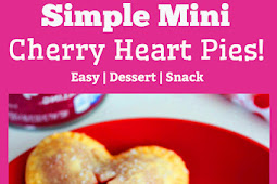 Simple Mini Cherry Heart Pies!