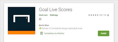 Goal Live Score - Aplikasi Untuk Memantau Pertandingan Bola