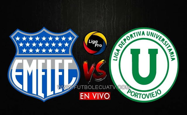 Emelec y Liga de Portoviejo se enfrentan en vivo a partir de las 16h45 por la fecha ocho del campeonato ecuatoriano, siendo emitido por el canal GolTV Ecuador a jugarse en el Estadio George Capwell. Teniendo como árbitro principal a Álex Cajas.