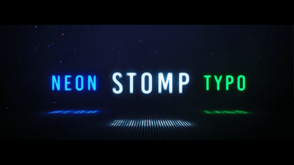 Neon Stomp Typographic[Videohive][After Effects][23896870]