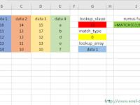 Fungsi Match Excel, Cara Penggunaan dan Contoh Fungsi Match Excel
