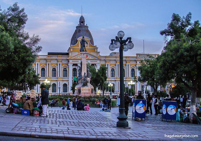 La Paz, Bolívia - Praça Murillo