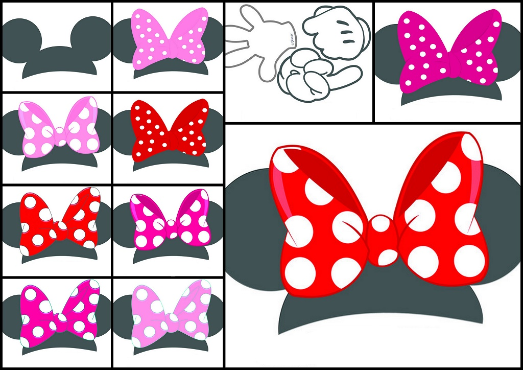graphic relating to Printable Minnie Mouse Head titled Free of charge Printable Minnie Heads with Bows. - Oh My Fiesta! inside of