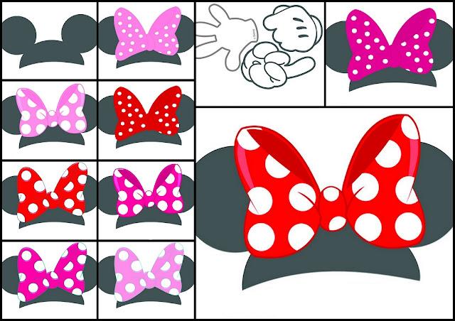 Cabezas de Minnie para Imprimir Gratis.
