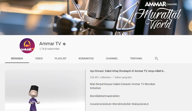Subcriber Ammar Tv Turun Dari 12 Juta menjadi 1 Juta?