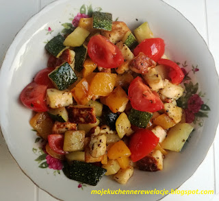 grillowane warzywa z serem