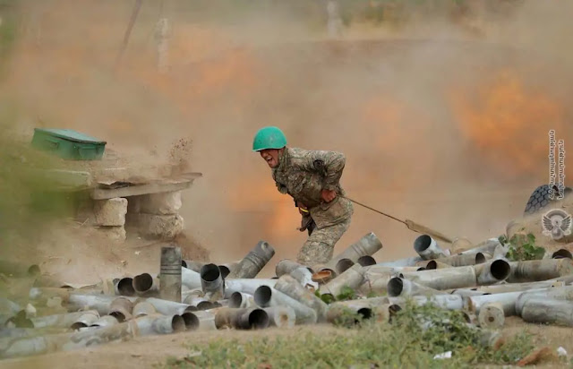 armenia fires at azerbaijan war
