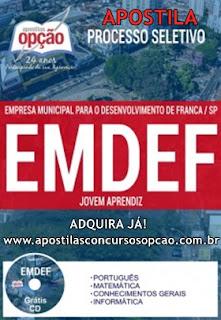 Apostila Processo Seletivo EMDEF Franca Jovem Aprendiz .
