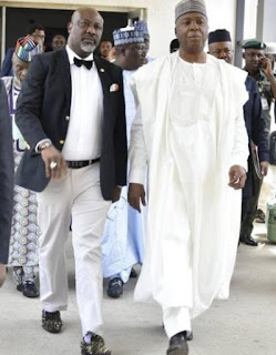 Dino Melaye Shares A Picture With Saraki With An Hilarious Commitment