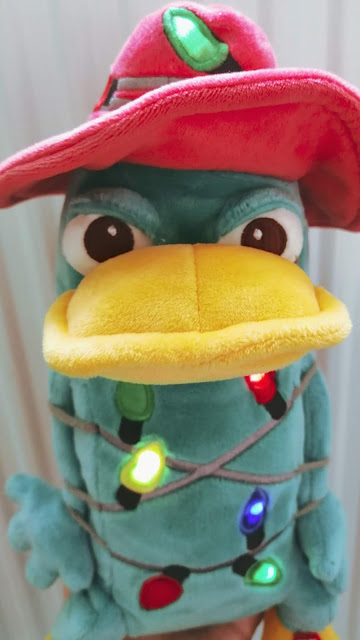 light up Christmas Perry the platypus as Agent P