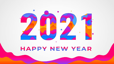 Colorful new year wallpaper 2021