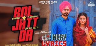 Bol Jatt Da Lyrics By Himmat Sandhu