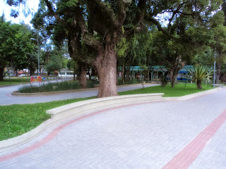 Praça Hercílio Luz, em Araranguá