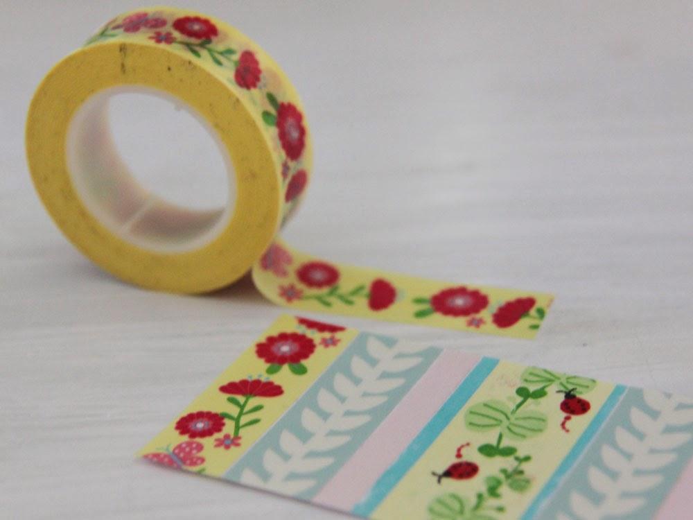 paso escog los washi tapes que quera que llevara como veis predominan los tonos pastel y los estampados florales