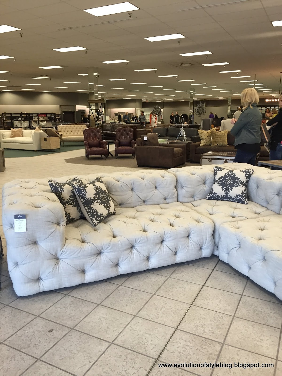 Leather Sectional Sofa Restoration Hardware Pottery Barn Sofas On Sale A Review Outlet Grand Opening Evolution Of