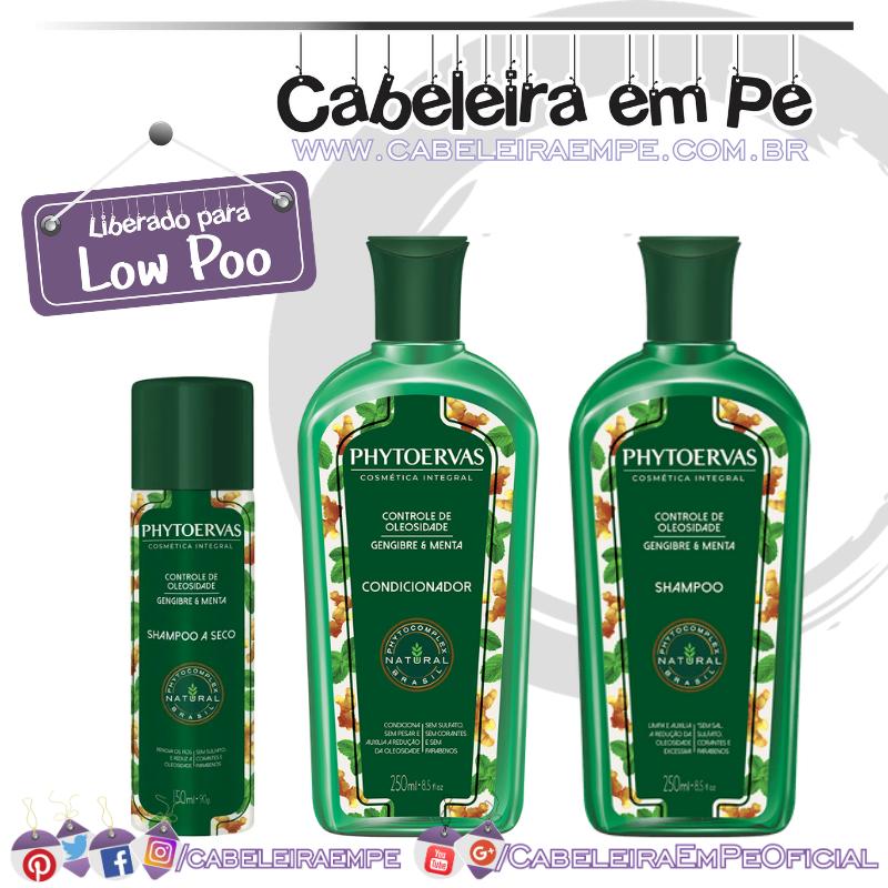 Shampoo e Condicionador e Shampoo a Seco Controle de Oleosidade- Phytoervas (Low Poo)