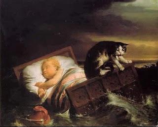 La leyenda holandesa del gato y la cuna de bebe