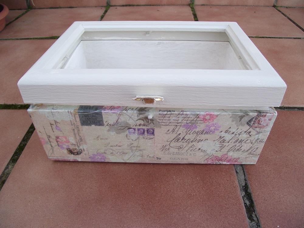 Trastos en el doblao la cajita de la tapa de cristal - Manualidades con caja de madera ...
