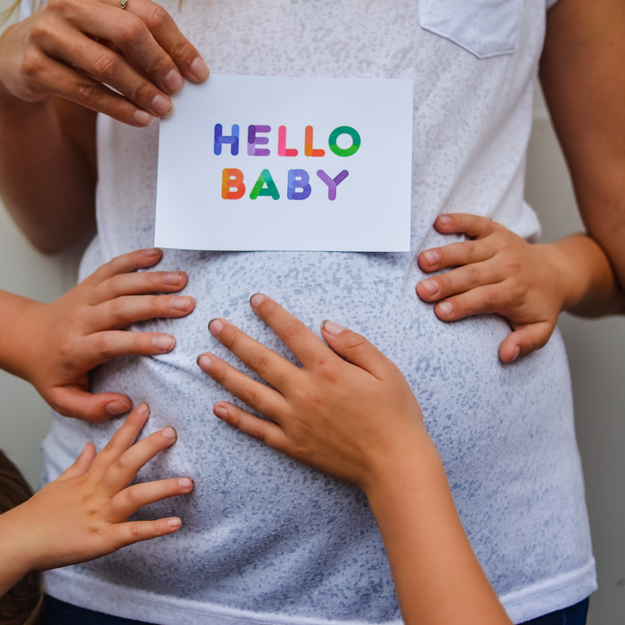 pregnancy anouncement, pregnancy at 33, fifth baby