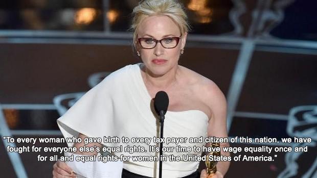 Patricia Arquette com discurso feminista ao receber a estatueta de Melhor  Atriz Coadjuvante ♥ bfccad98fa