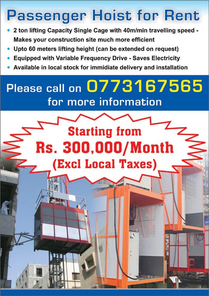 Envision | Passenger Hoist for Rent.