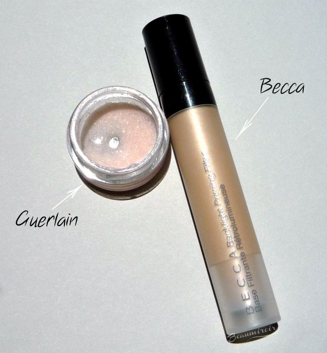 Becca Backlight Priming Filter vs Guerlain Meteorites Base Perfecting Pearls primer!