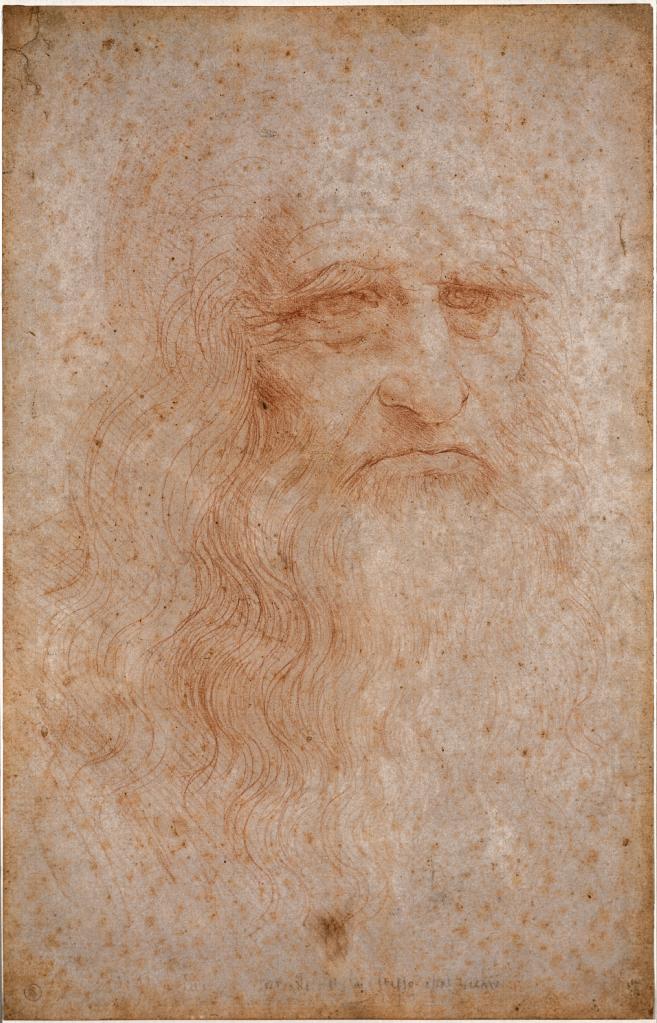 レオナルド・ダ・ヴィンチが描いたと推定される髭を伸ばした自画像