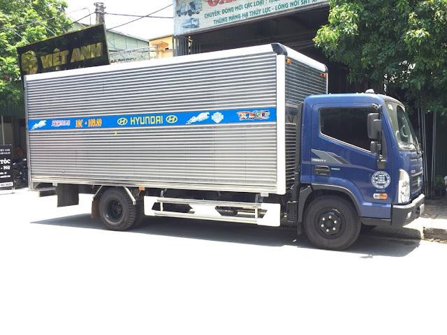 Đóng thùng kín xe tải Hyundai EX8