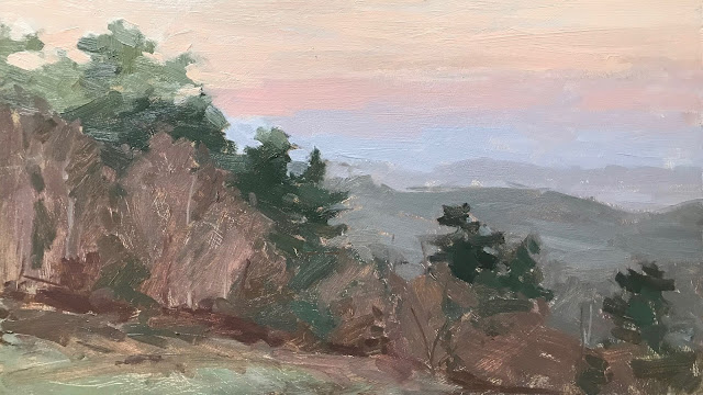 #275 'First Light, The Devils Punch Bowl' 8×14″