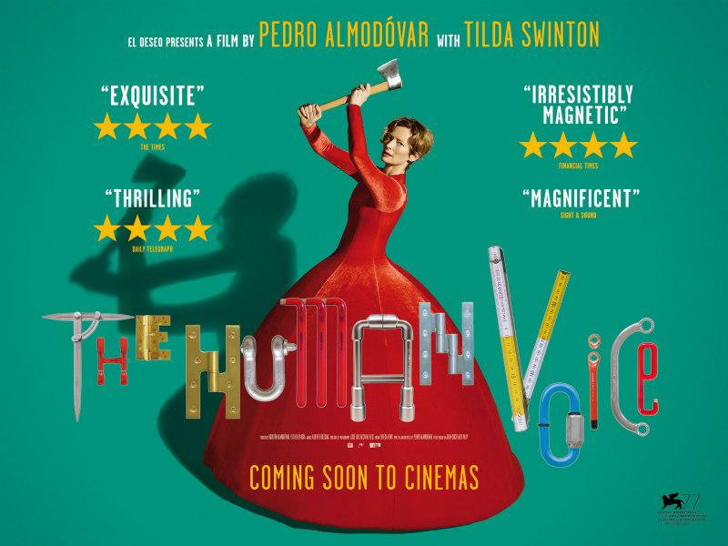 the human voice almodovar swinton poster