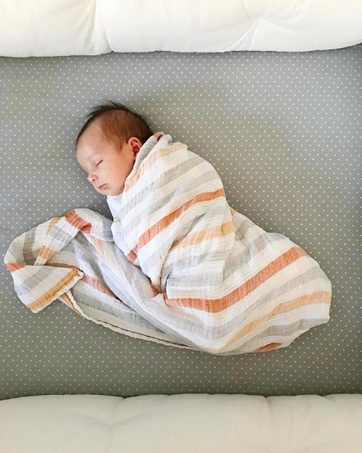 Sleeping Swaddled Baby