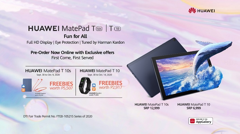 Huawei MatePad T 10s and MatePad T 10 Philippines