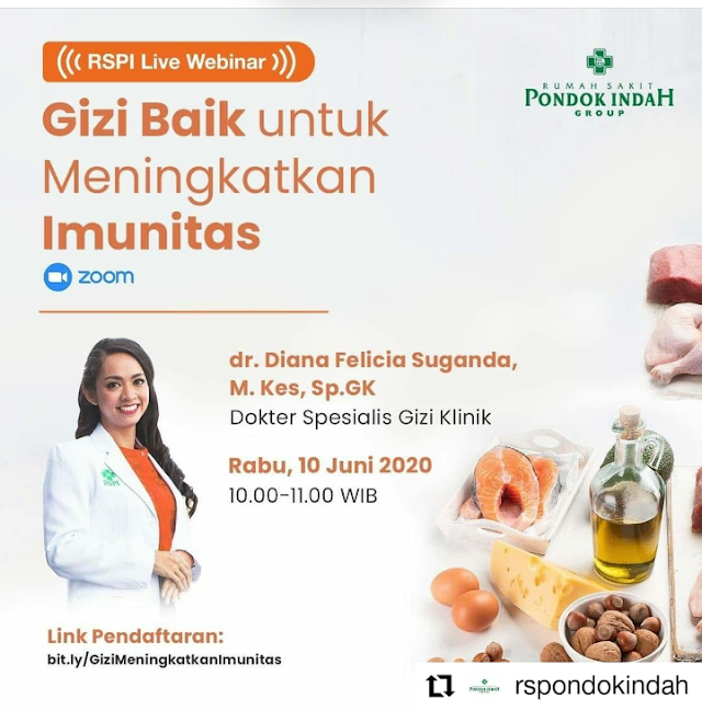 "Webinar ""Gizi Baik untuk Meningkatkan Imunitas"" 10 Juni 2020"