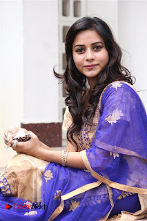 Actress Suza Kumar Pictures in Salwar Kameez at Maaniik Movie Launch  0073