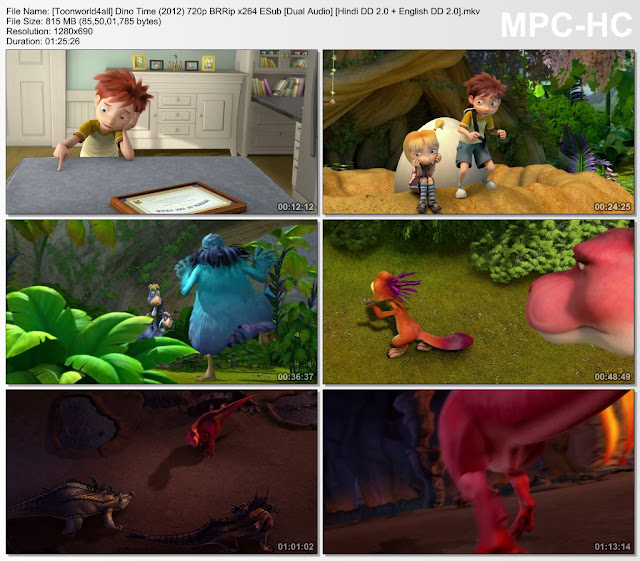 Dino Time (2012) 720p BRRip Dual Audio [Hindi DD 2.0 + English 2.0] ESub 3