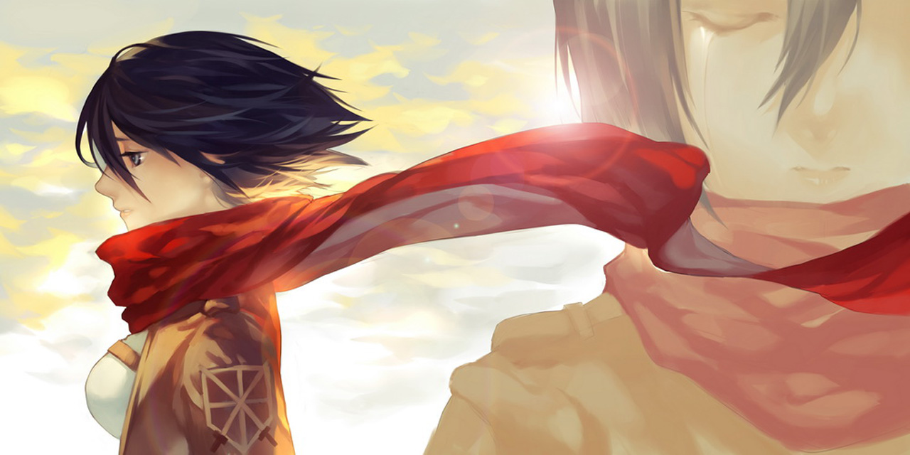 Hd Wallpaper Mikasa Ackerman Red Scarf 0804