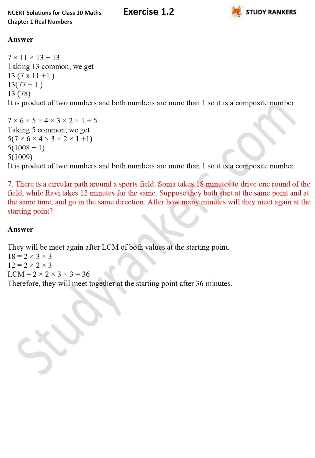 NCERT Solutions for Class 10 Maths Chapter 1 Real Numbers Exercise 1.2 3