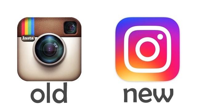 perbandingan logo old lama new baru instagram