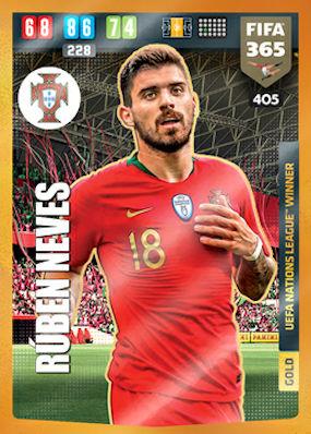 PANINI FIFA 365 2020 cartes cards 401-Ruben Dias-UEFA Nations League Winner