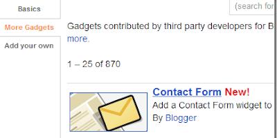 Cara Membuat Form Contact di Blogger