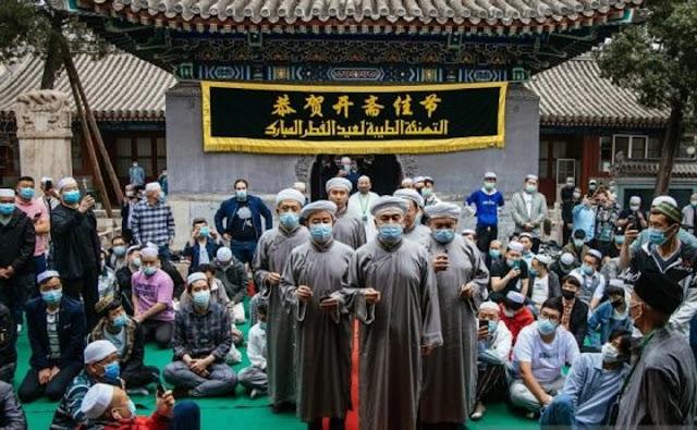 Jamaah Salat Idul Fitri di Tiongkok Tahun Ini Membeludak